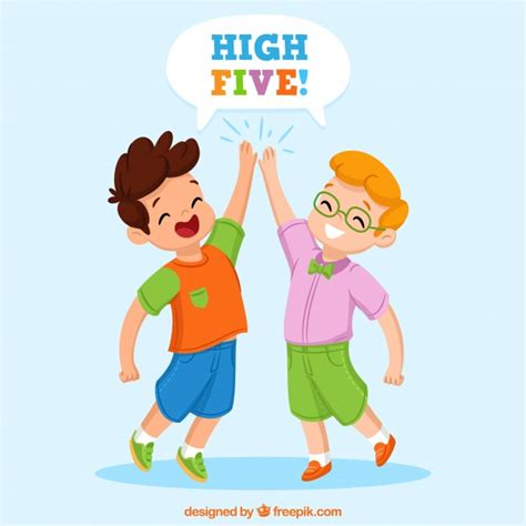 High Five Clip High Five Vectors Photos And Psd Files Free