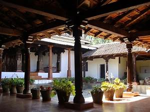 Kerala, Courtyard, With, Seating