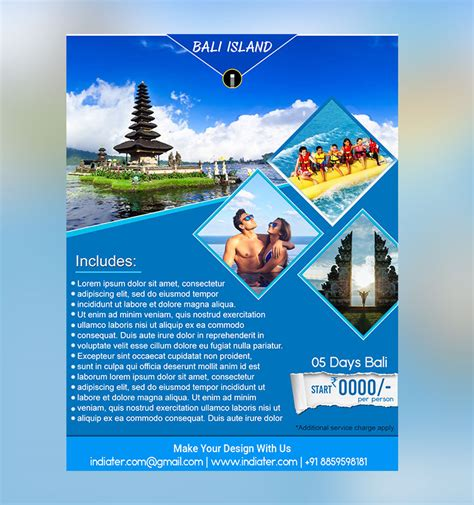 Island Brochure Template by Bali Island Travel Flyer Template Indiater