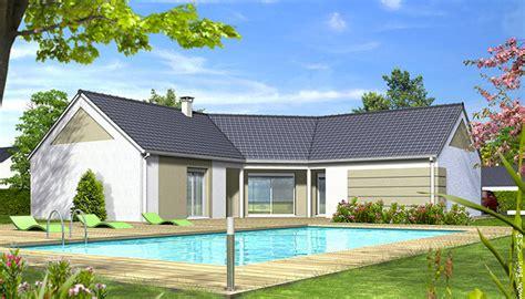 maison en l moderne plan de maison moderne iris maison en u