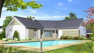 plan de maison moderne iris maison en u With modele de maison en u