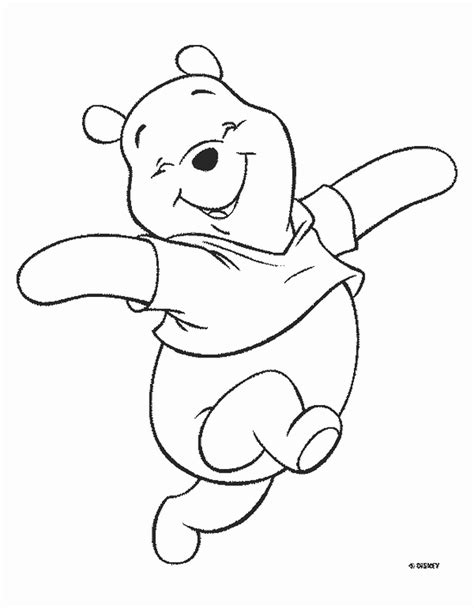 winnie  pooh bear disney coloring pages