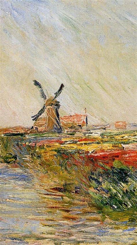 paintings windmills rivers claude monet impressionism