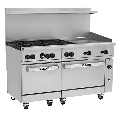 vulcan range for home vulcan 60ss 6b24g 60 quot gas range 2 ovens 6 burners 24 quot griddle prima supply