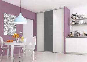 portes de placard coulissantes de cuisine sur mesure With modele de placard de cuisine