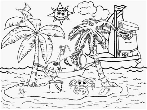 Adult Beach Coloring Summer Pagessummer Pages Crayola