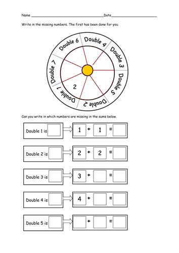 differentiated worksheets  doubling  ruthbentham