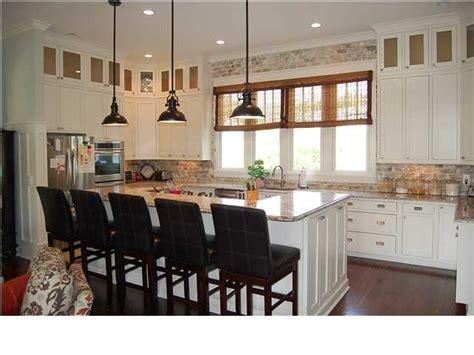 brick veneer  kitchen backsplash custom dream home