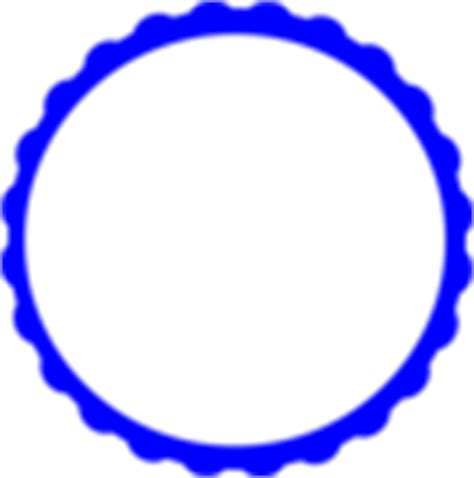 Teal Scallop Circle Frame Clip Art at Clker com vector
