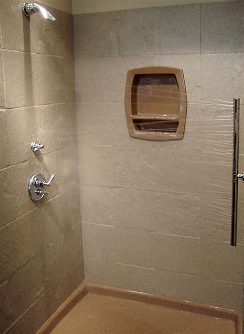shower tile shelf insert