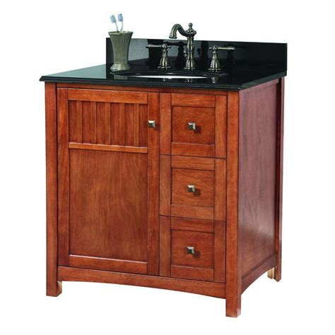 31 granite vanity top with foremost knoxville 31 in w x 22 in d vanity in nutmeg