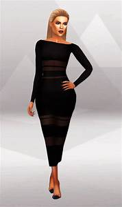 Simpliciaty KK Tight Long Dress u0026 MIDI Skirt u2022 Sims 4 ...
