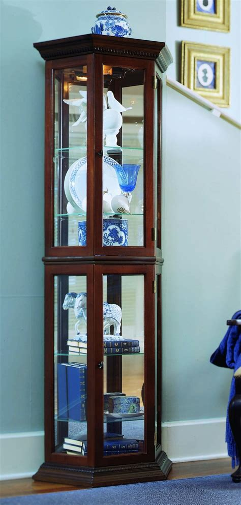 Coaster Glass Curio Cabinet In Cappuccino by Espresso Curio Cabinet Coaster 5 Pc Shoemaker Ii