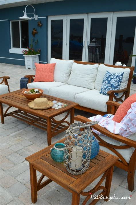 restore outdoor teak furniture tutorial hobungalow