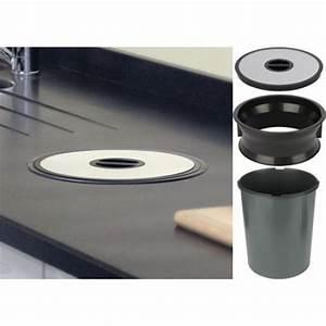 Poubelle De Plan De Travail : recessed kitchen worktop bin 13l stainless steel ~ Melissatoandfro.com Idées de Décoration