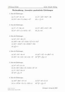 Scheitelpunkt Berechnen Aufgaben Mit Lösungen : wochen bung besondere quadratische gleichungen aufgaben mit l sungen und videoerkl rungen ~ Themetempest.com Abrechnung