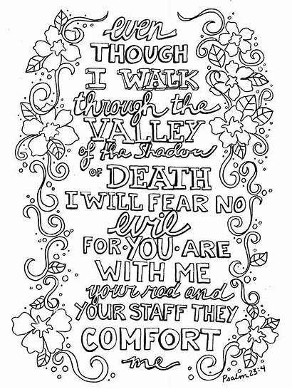 Coloring Pages Psalms Psalm Printable Getcolorings