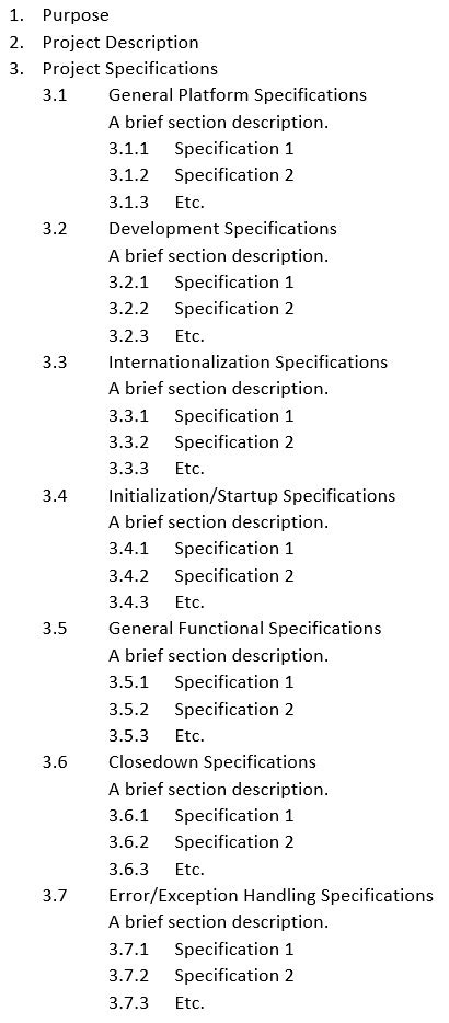 Functional Specification: Definition & Examples | Study.com