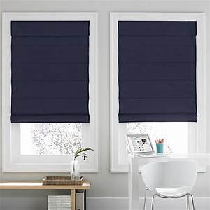 real simpler roman shade in navy bed bath beyond With bed bath and beyond roman blinds