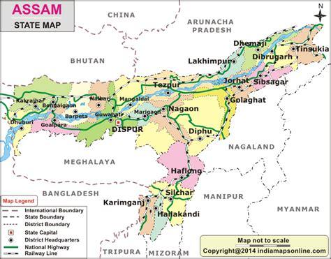 assam map assam state map