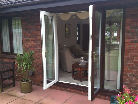 rosewood  white  upvc french doors upvc