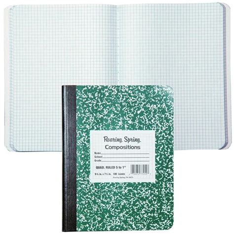 roaring spring  quad ruled composition notebook