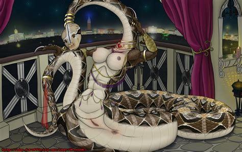 rule 34 anus areolae breasts dr nowak female female jewelry lamia naga nipples pussy reptile