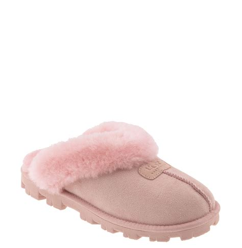 pink ugg slippers sale ugg coquette slipper in pink light pink lyst