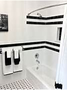 Bathrooms With Black And White Tile by Black And White Bathrooms String Scissors