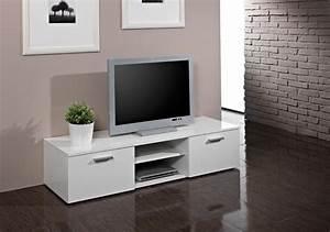 Meuble Blanc Pas Cher : meuble tv blanc pas cher id es de d coration int rieure ~ Dailycaller-alerts.com Idées de Décoration