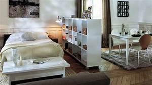 avoir son espace chambre dans le salon diaporama photo With faire une chambre dans un salon
