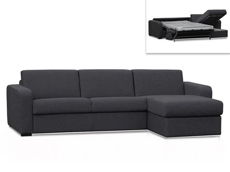 canap 233 d angle convertible express tissu anthracite flavien