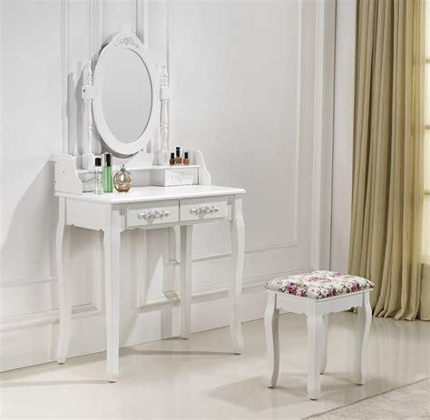 tabouret pour coiffeuse chambre très coiffeuse table de maquillage avec 2 tiroirs