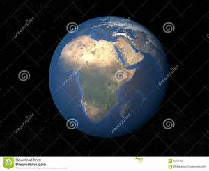 Earth From Space Africa Without Clouds Stock Illustration ...