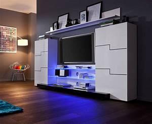 Moderne Wohnwände Weiss Hochglanz : moderne wohnwand anbauwand schrankwand twin schwarz hochglanz ebay ~ Sanjose-hotels-ca.com Haus und Dekorationen