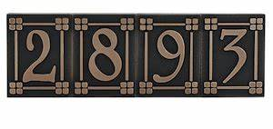 individual arts and crafts number letter and accent With craftsman house numbers and letters