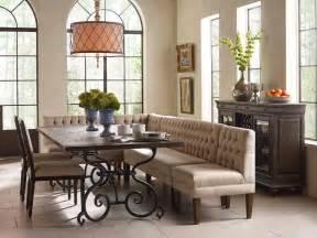 kincaid dining room sets corner banquette furniture