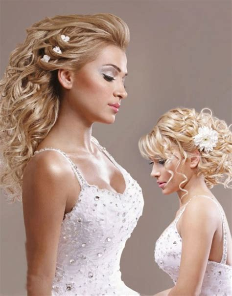 curly wedding hairstyles official