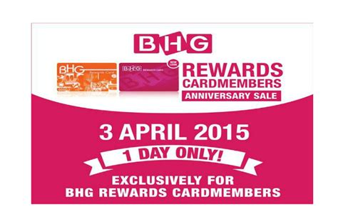 bhg exclusive offers bhg rewards cardmembers anniversary sale 30 off 1 day 3 april 2015 moneydigest sg