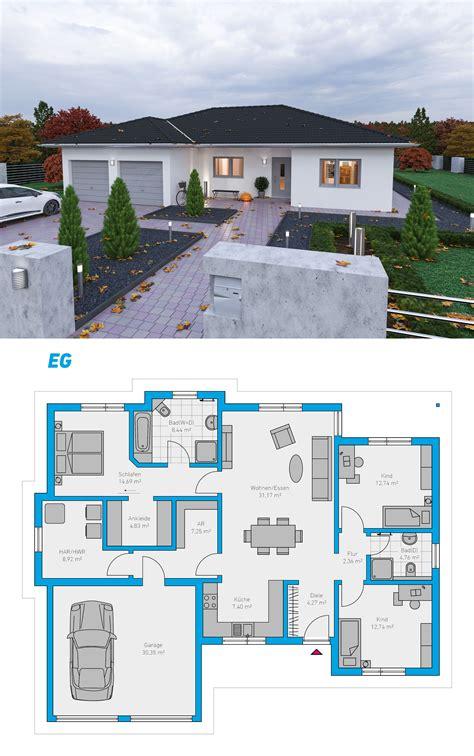 Bungalow Haus Pläne by Plana 150 Schl 252 Sselfertiges Massivhaus Spektralhaus