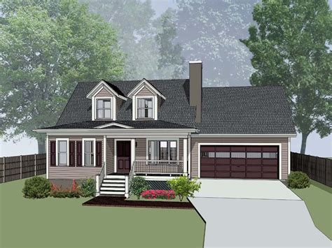 House Plan 72725 Bungalow Style with 1292 Sq Ft 3 Bed