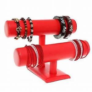 Support à Bijoux : porte bijoux support bracelet montres jonc en simili cuir 2 rangs ebay ~ Teatrodelosmanantiales.com Idées de Décoration