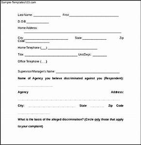 Anti Discrimination Policy Template How To Write A Grievance Letter For Discrimination Images Letter Format Formal Sample