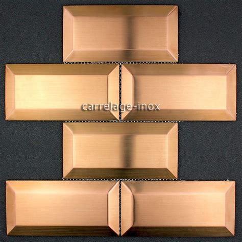 plaque en inox pour cuisine carrelage metro cuivre credence inox cuisine metro cuivre
