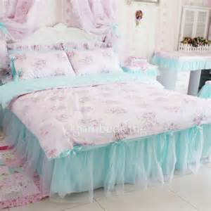 pics photos set pink princess bedding floral duvet cover queen size twin bed set