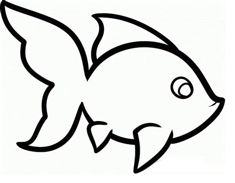 cartoon fish drawings clipartsco