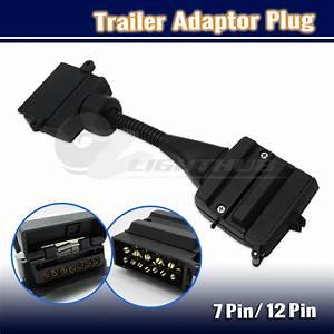 7 Pin Flat Socket To 12 Pin Plug Trailer Adaptor Caravan