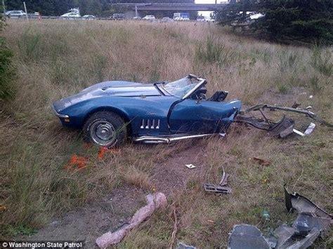 pictures jourdan bradley crashes corvette  racing suv