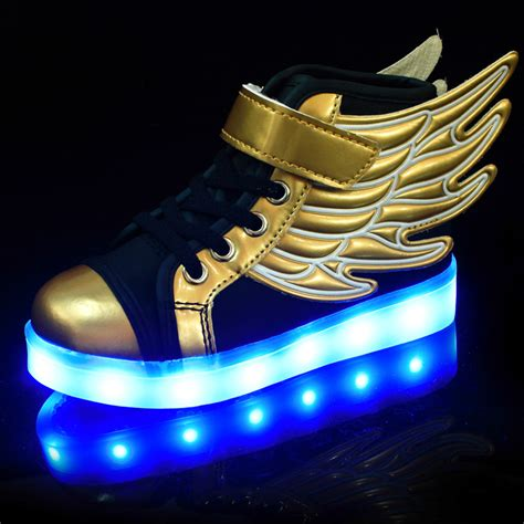 free light up shoes light up wing shoes kids usb charging