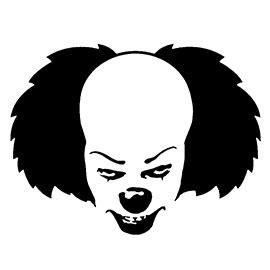 pennywise  clown stencil  stencil gallery